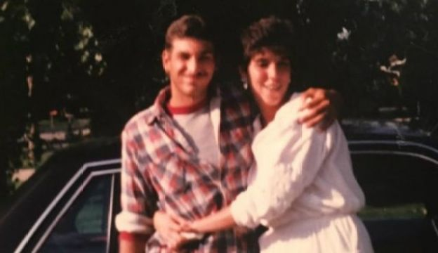 Lynn Scott with her brother Jack Jones, Jr, who has been in prison since 1995
