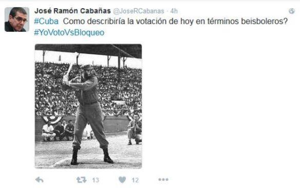 El embajador cubano en Estados Unidos mostró su particular recuento del evento, también en Twitter.