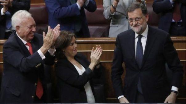 Mariano Rajoy, este sábado en el parlamento español.