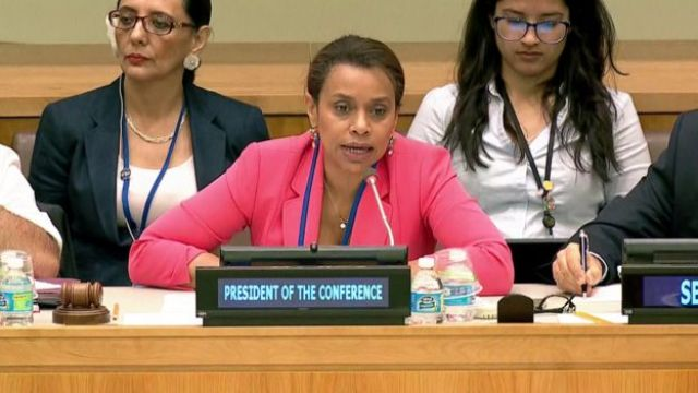 Elayne Whyte Gómez, embajadora de Costa Rica ante la ONU.