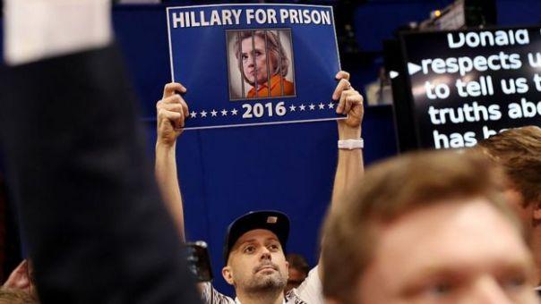 Aviso contra Hillary Clinton