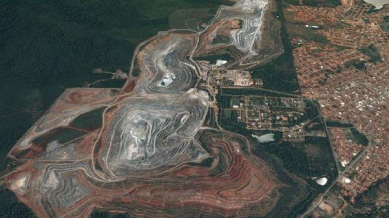 vista area mina amianto goias
