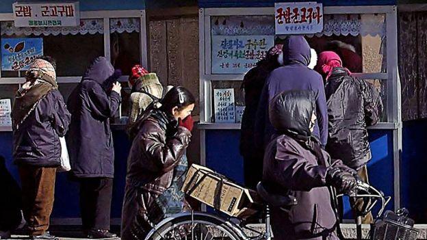 Mercado en Pyongyang.