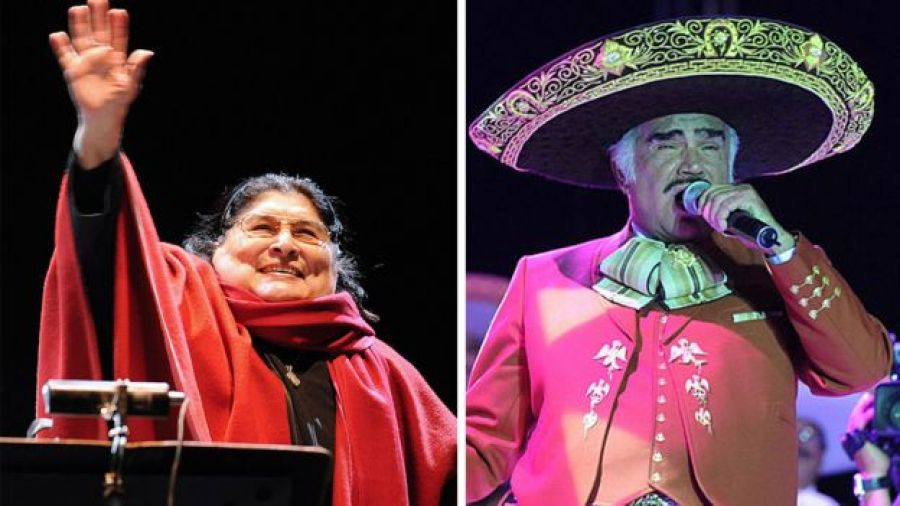 Mercedes Sosa y Vicente Fernández (crédito: Getty Images)