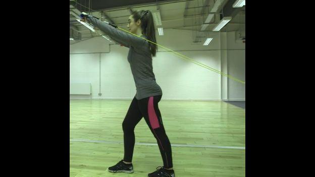 Mujer haciendo ejercicios