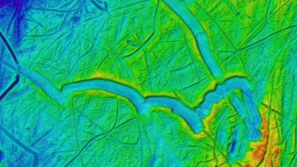Mapa del lecho marino