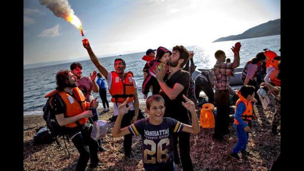Refugiados en tierra firme