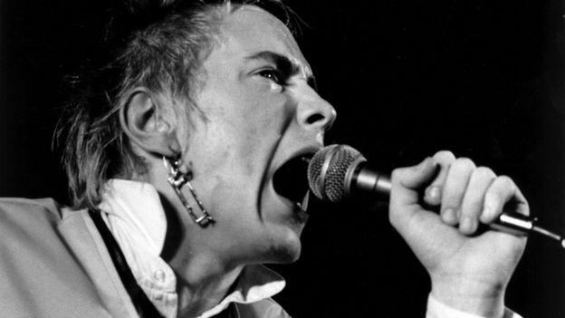 John Lydon singing in 1976