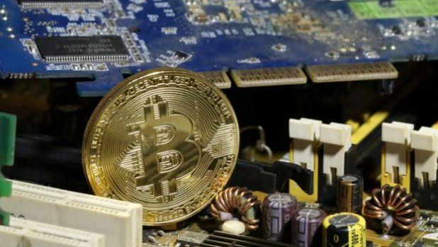 Bitcoin en computadora