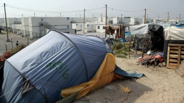 The Jungle camp in Calais