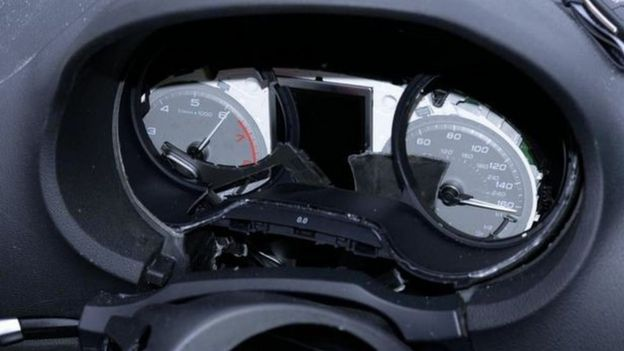 speedometer stuck on 160mph