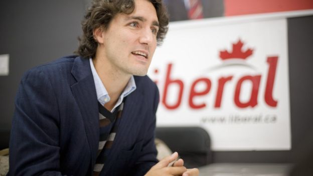 Mr Trudeau in 2008