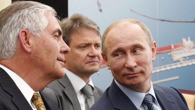 Rex Tillerson và ông Vladimir Putin