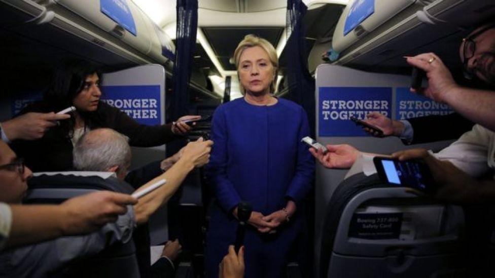 A candidata democrata à Casa, Branca, Hillary Clinton