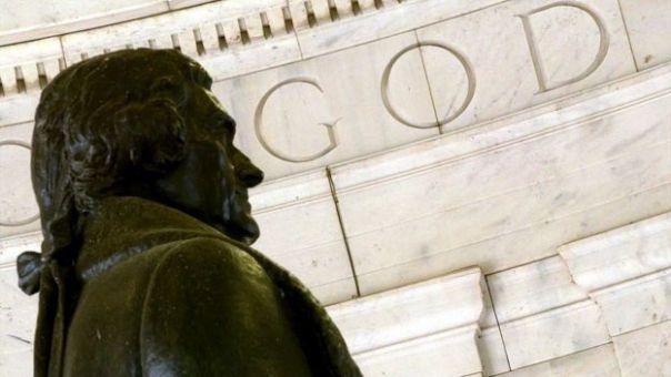 Thomas Jefferson en el Capitolio estadounidense.