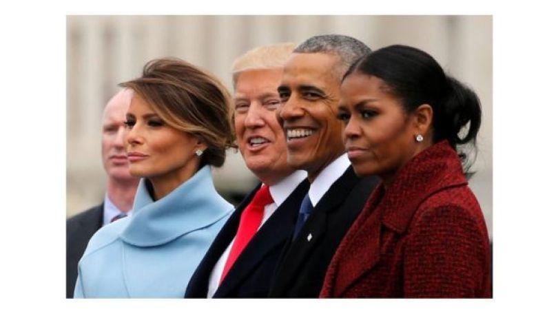 Melania e Donald Trump e Barack e Michelle Obama