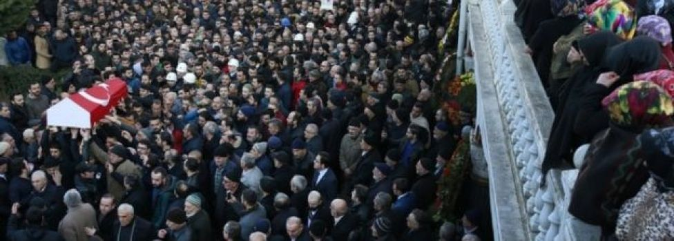 Hundreds mourn Turkish victim Yunus Gormek at his funeral in Istanbul