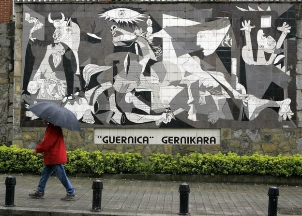 Mural based on Guernica by Pablo Picasso
