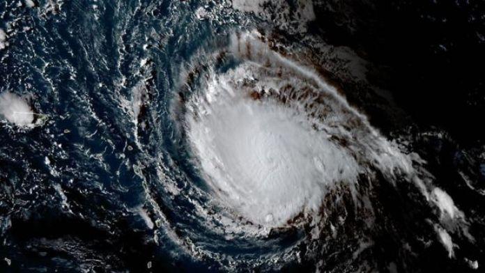 Imagem de satélite do Irma