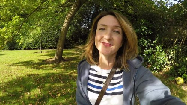 Victoria Derbyshire five days after her operation