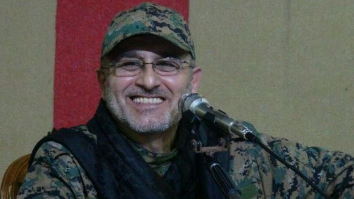 An undated handout photo released on May 13, 2016 by Hezbollah's media office shows Mustafa Badreddine smiling