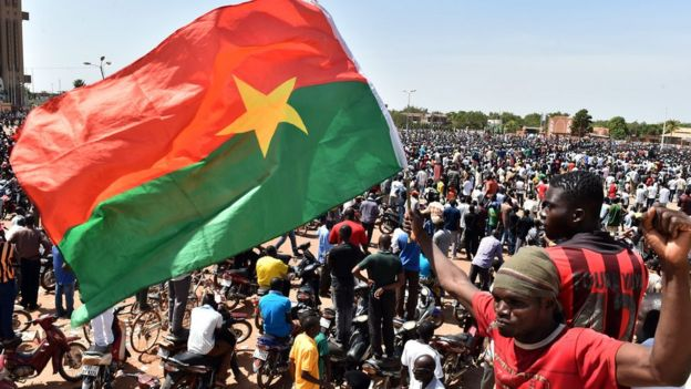Protesters in Burkina Faso