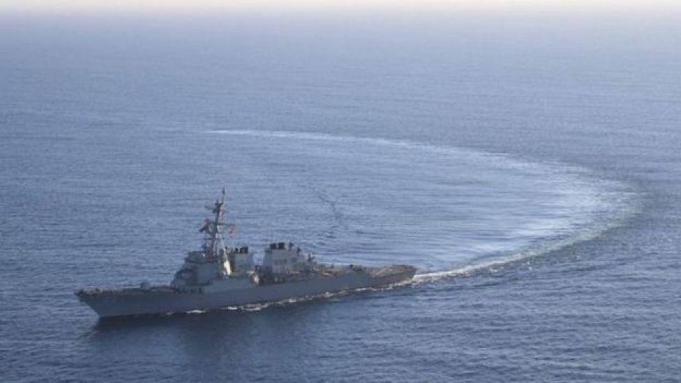 Markabka USS Donald Cook oo ku sugan badda Mediterranean
