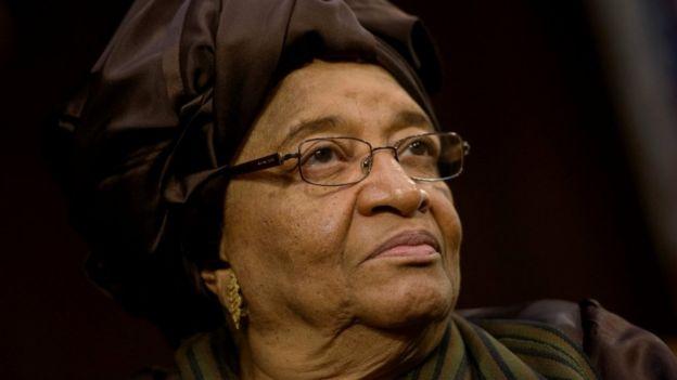Ellen Johnson Sirleaf at a speech in New York in 2015
