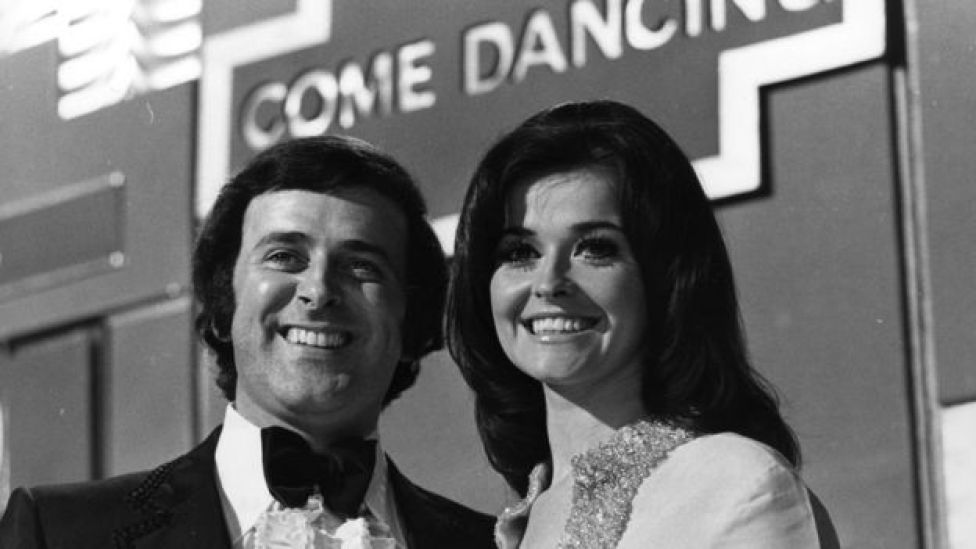 Terry Wogan and Jenny McAdam presenting Come Dancing