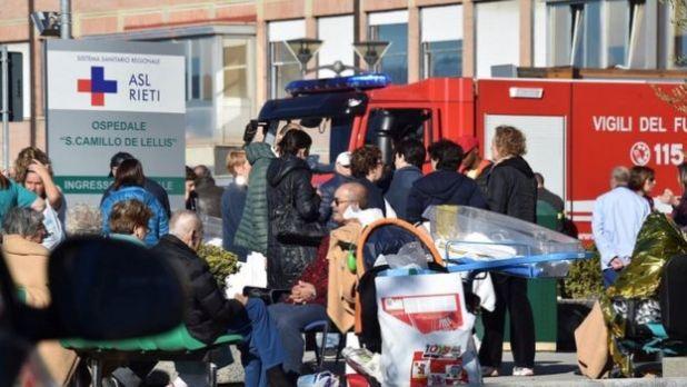 Pacientes en hospital de Rieti