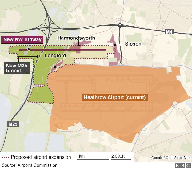 Heathrow map of proposal