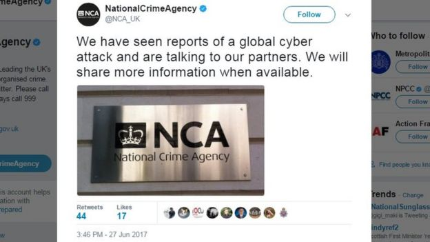 The UK's National Crime Agency is investigating the threat | IMG:BBC