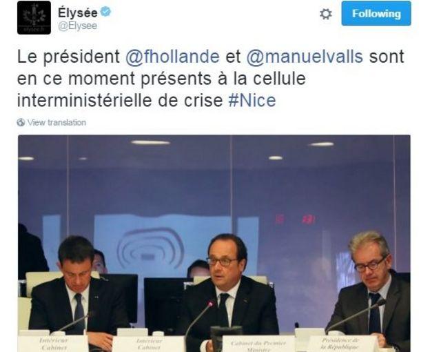 Elysee tweet