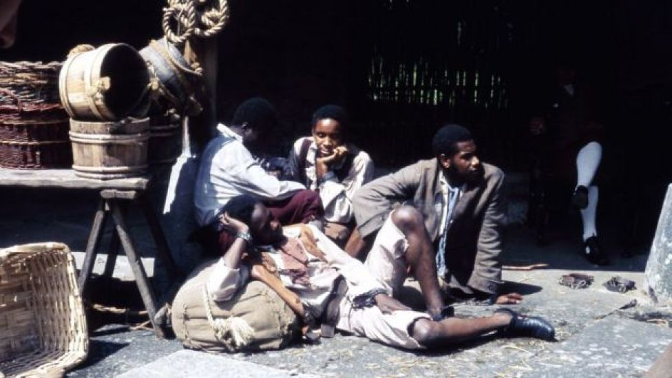 Escena de una serie de TV de la BBC sobre la esclavitud