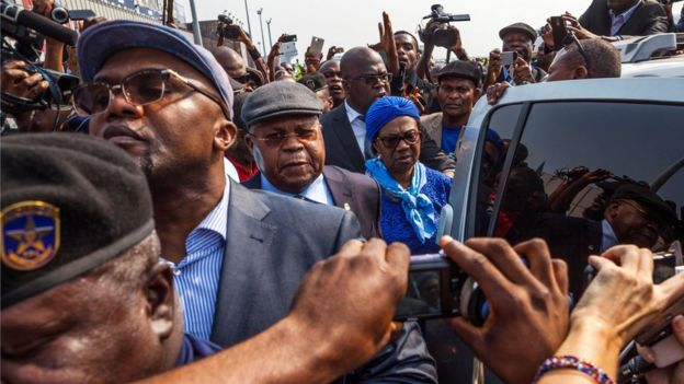 Tshisekedi arrives in Kinshasa in July 2016