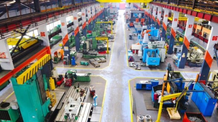 Imagem aérea de fábrica