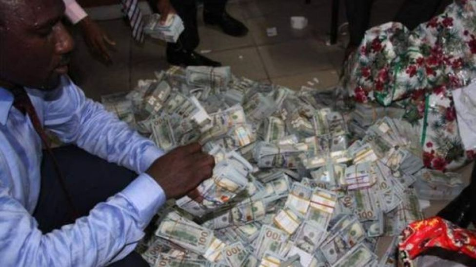Cash recovered from a property in Lagos following a raid