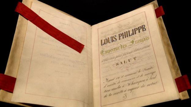 Ảnh chụp 'Hiệp Định Hoàng Phố 1844' trưng bày tại bảo tàng