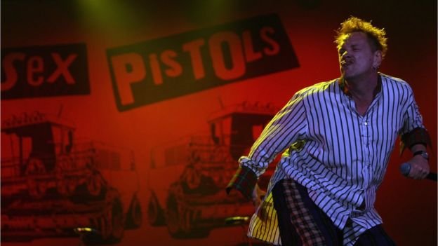 John Lydon of the Sex Pistols performs at the Isle of Wight Festival June 14, 2008 in Newport, Isle of Wight, England