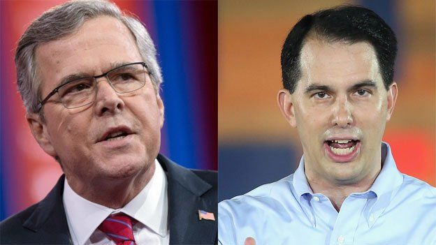 Jeb Bush and Scott Walker