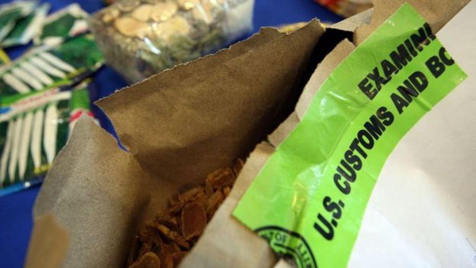 Inspección de productos orgánicos del CBP