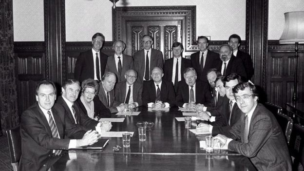 Neil Kinnock's Shadow Cabinet in 1988