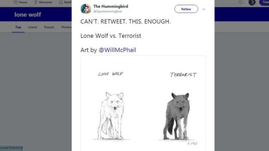 Caricatura de lobos