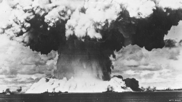 Nuclear test at Bikini Atoll, 1946