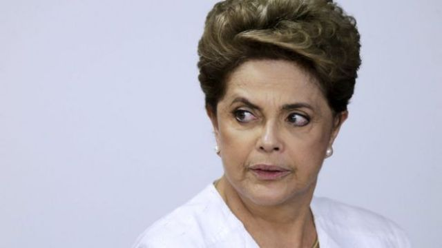 Brazil's former President Dilma Rousseff during a ceremony in Brasilia on 15 April, 2016