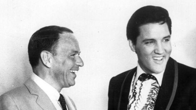 Frank Sinatra y Elvis Preley