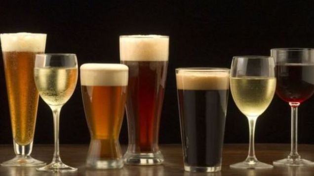 Vinho e cerveja