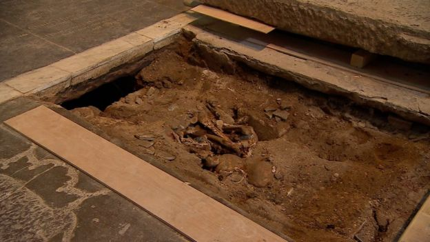 Human remains found beneath ledger stone in Gloucester Cathedral