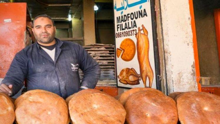 مخبز يبيع فطائر المدفونة
