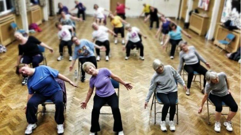 Women at an exercise class